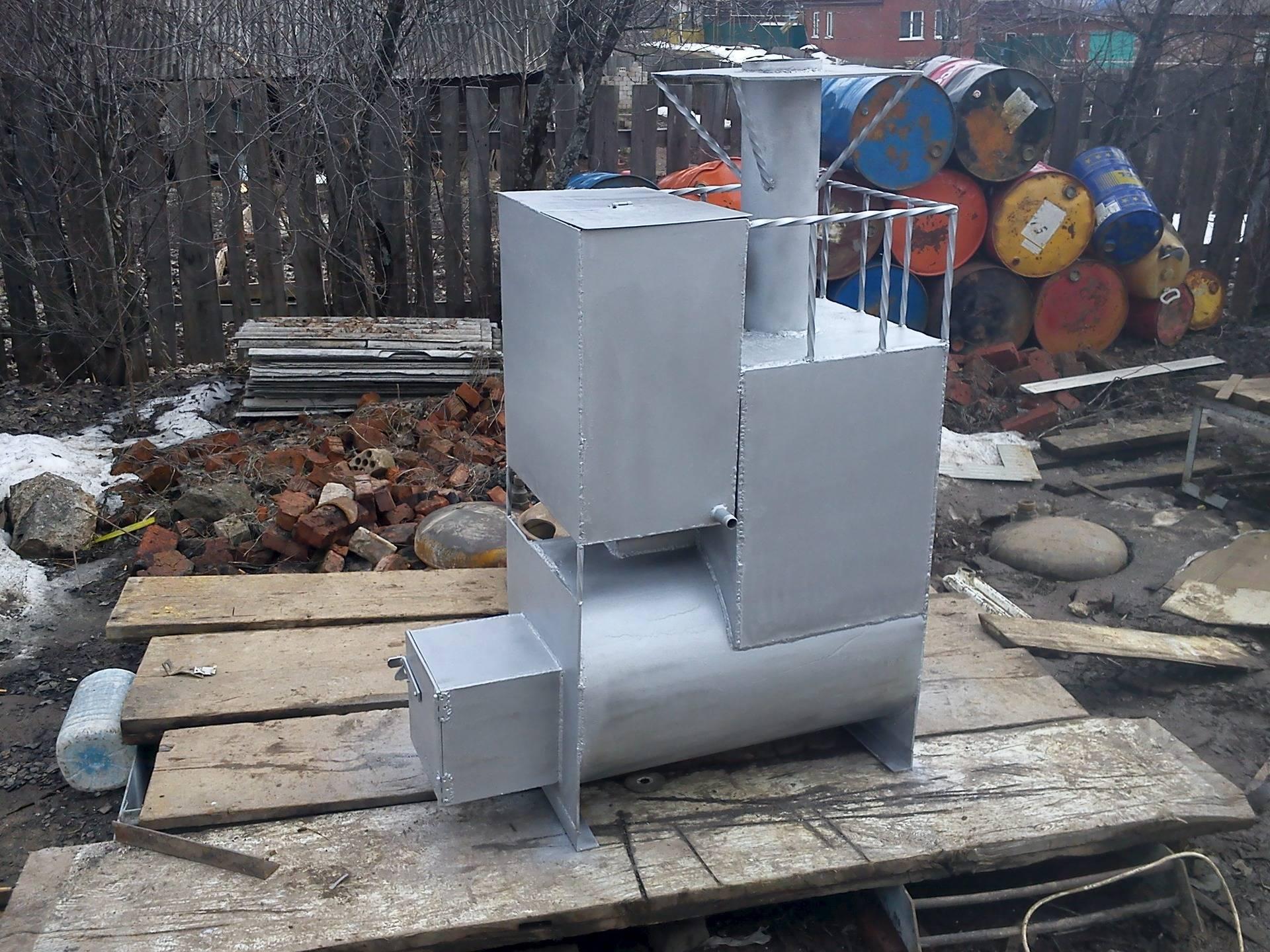 Печь для бани из металла своими руками - чертежи, видео