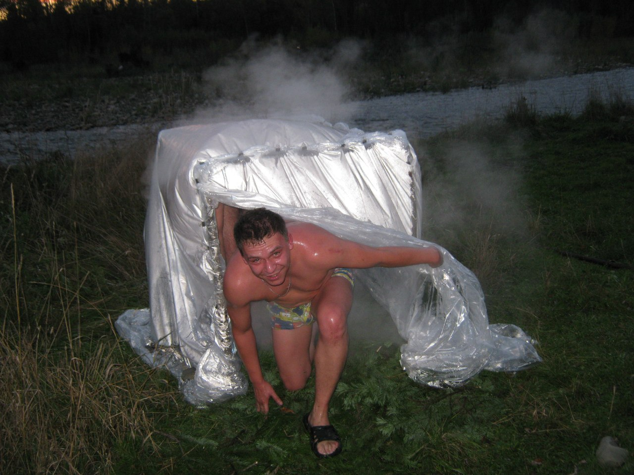 Походная баня своими руками - вариант изготовления и использования!
