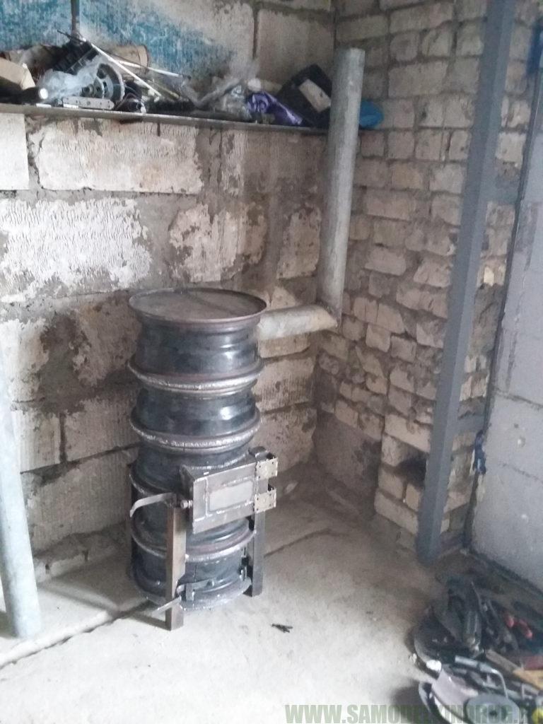 Печь из дисков – инструкция по созданию в домашних условиях, правила безопасности