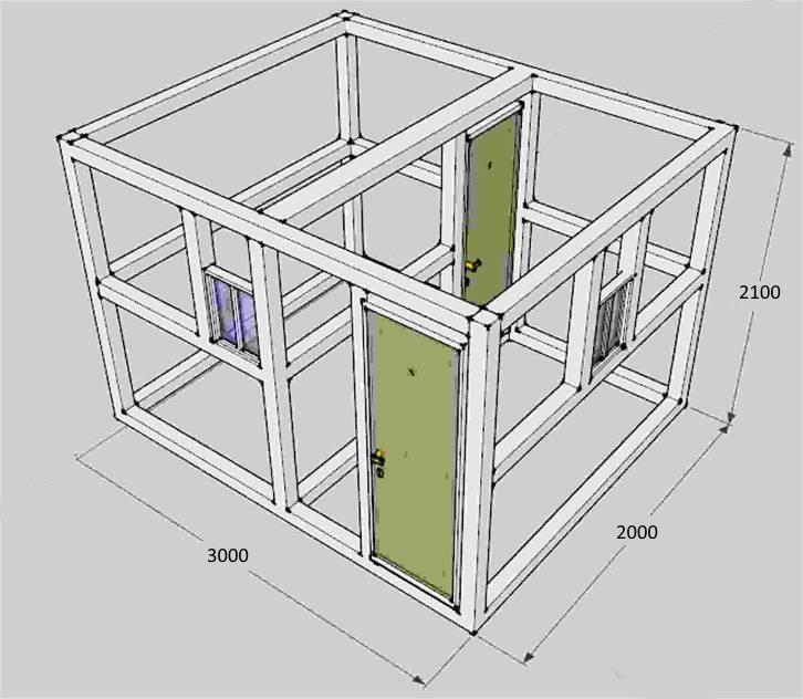 Принципы строительства каркасно-щитовой бани