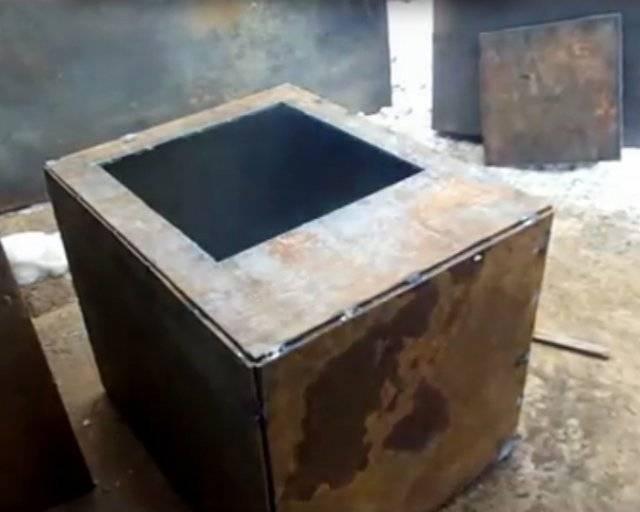 Как сварить печку для бани из металла