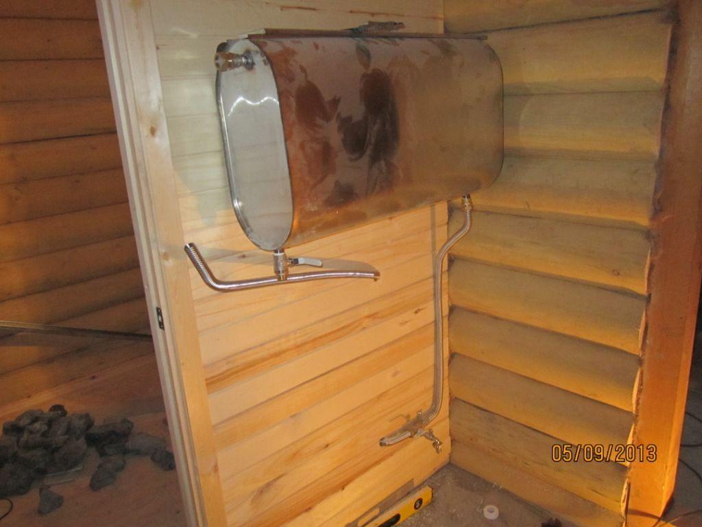 Как выбрать бак для воды для бани, фото баков из нержавейки и чугуна