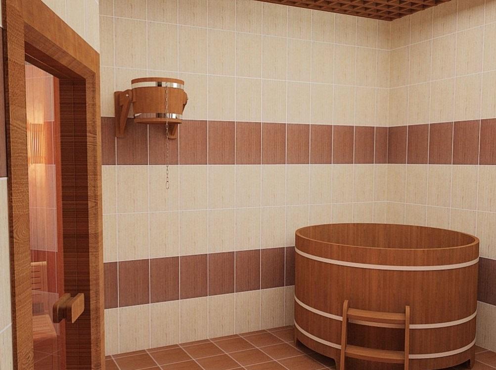 Плитка в бане фото