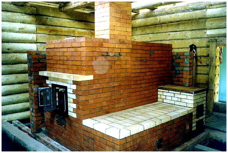 Кирпичная печь-каменка для бани своими руками: виды, инструкция по изготовлению, порядовка