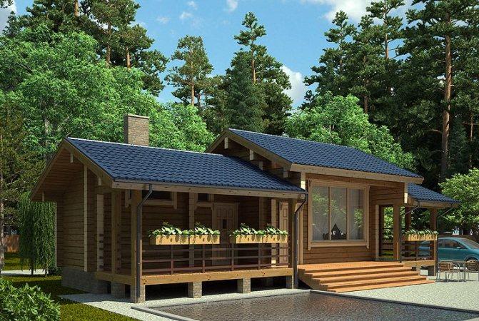 Баня с беседкой под одной крышей – проекты + строительство своими руками | сад и огород