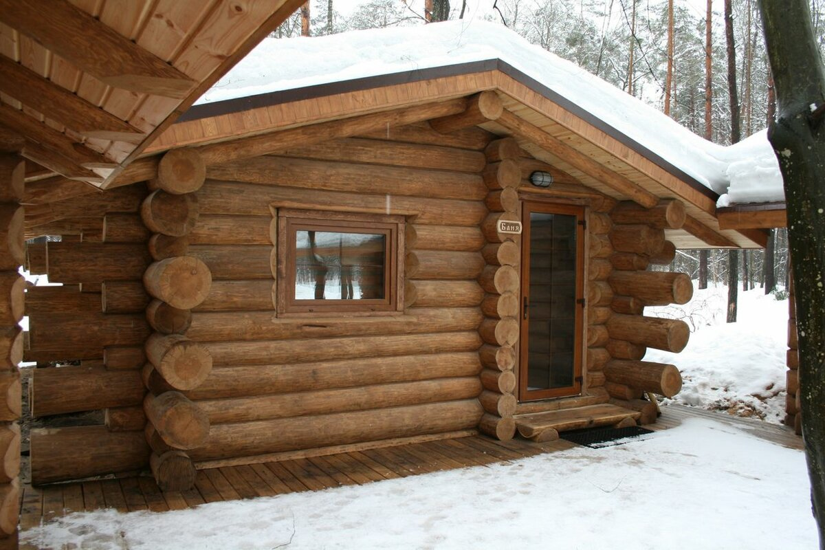 Баня из бревна внутренняя отделка - строим баню или сауну