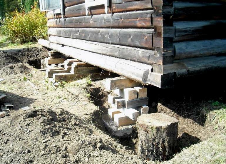 Как сделать ремонт фундамента бани? — строительство бани