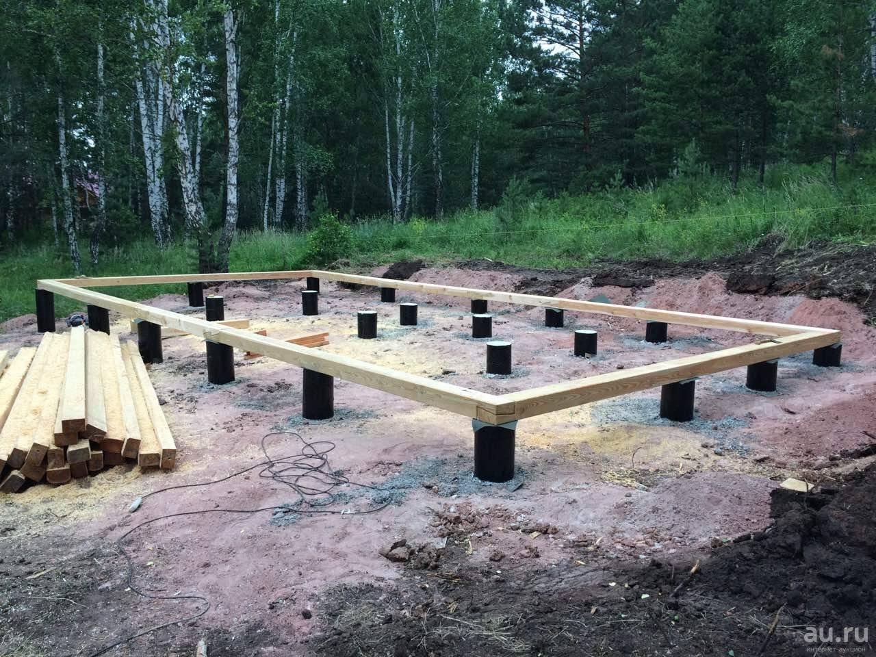 Правила строительства свайного фундамента под баню
