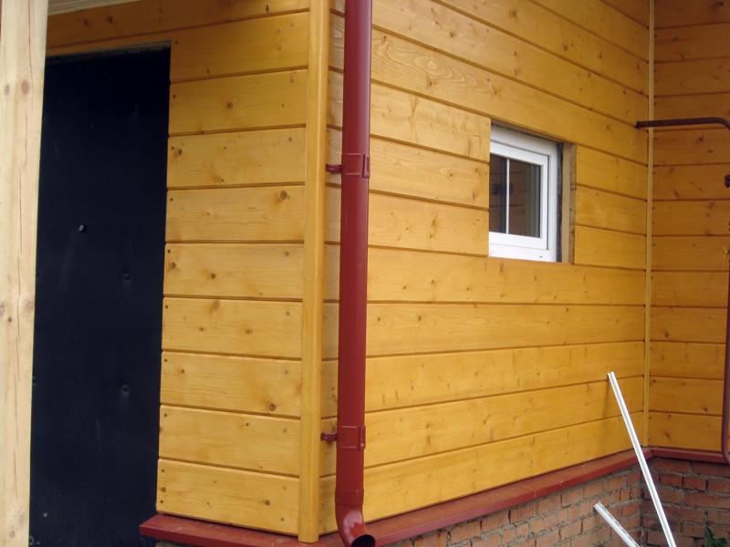 Имитация бруса для наружной отделки стен дома