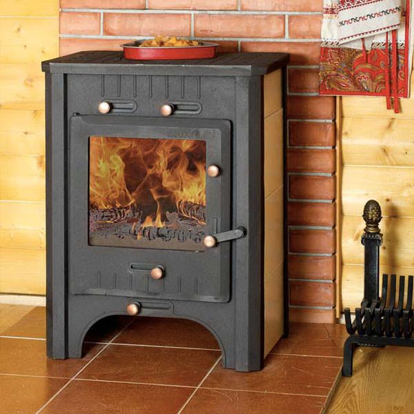 Печь-камин бавария от компании экокамин, модели: эко угловая, оптима с плитой и духовкой, призматик с теплообменником, три стекла
