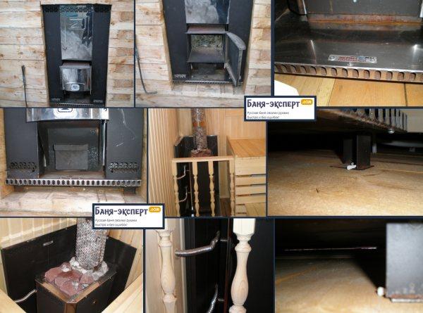 Защитные экраны из кирпича для банных печей - противопожарная установка банной печи