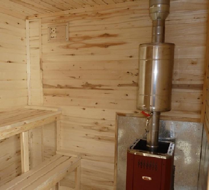 Установка печи в бане с выносной топкой на деревянный пол своими руками: пошаговая инструкция