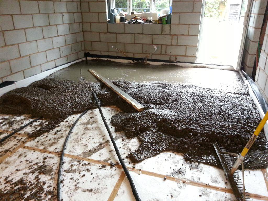 Устройство бетонного пола в частном доме