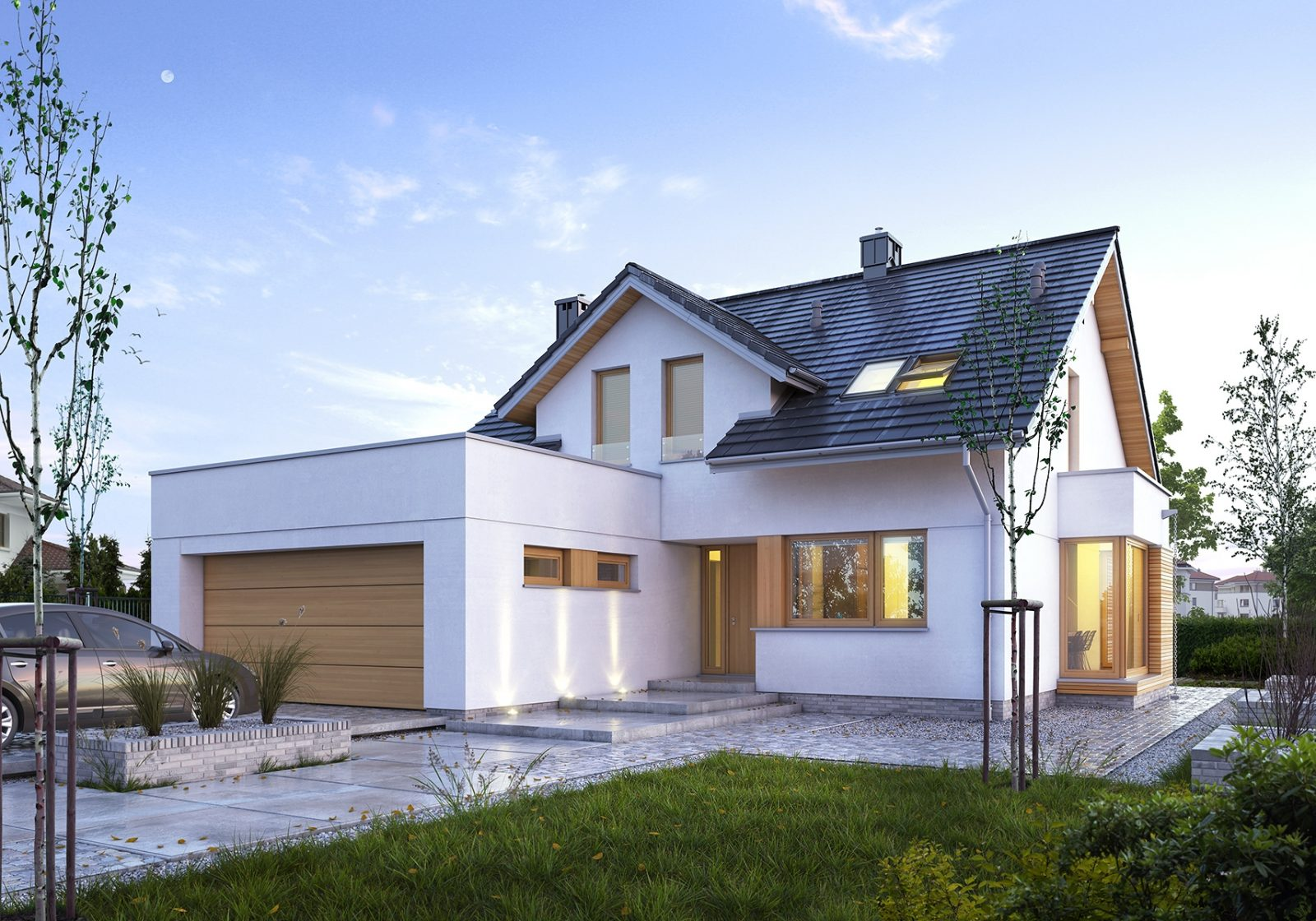 Проекты и планировка домов с гаражом и баней: чертежи с размерами