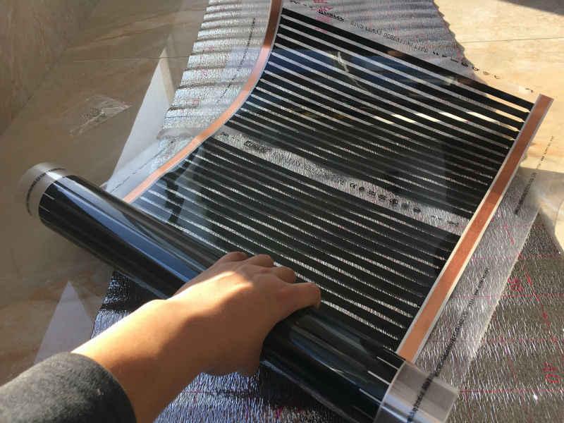 Инфракрасный теплый пол монтаж и выбор финишного покрытия