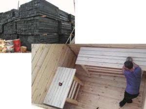 Баня из шпал своими руками: инструкция, фото, видео