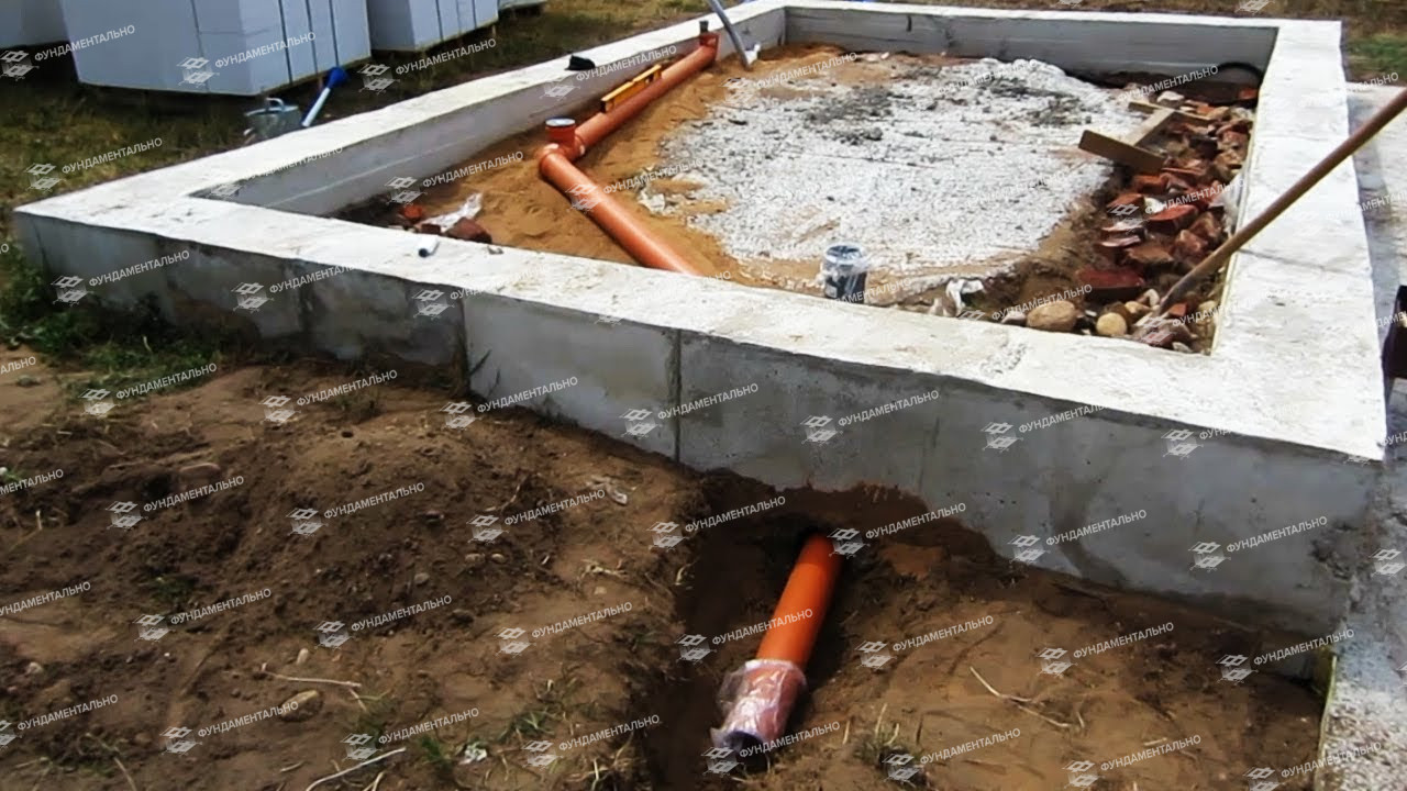 Фундамент своими руками для бани с печкой и сливом   фундамент своими руками