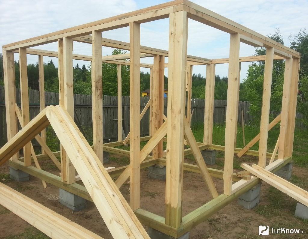 Как построить каркасную баню своими руками пошагово