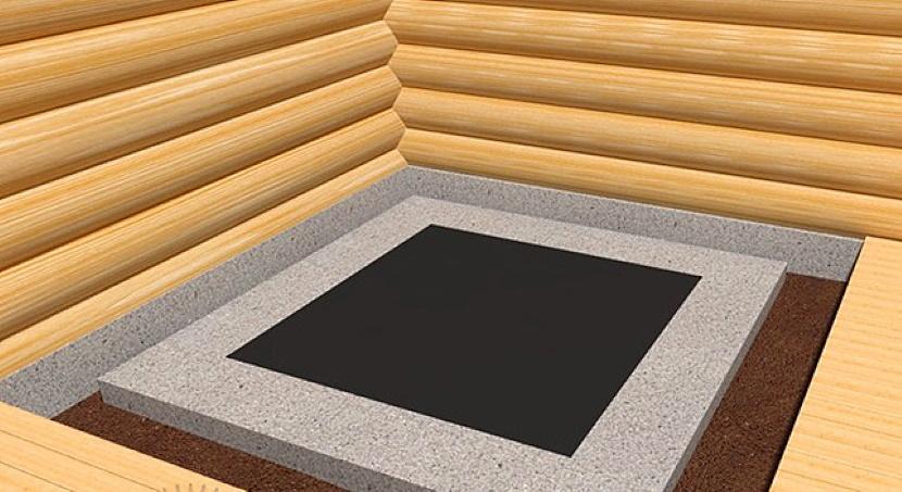 Фундамент под металлическую или железную печь из бетона в бане