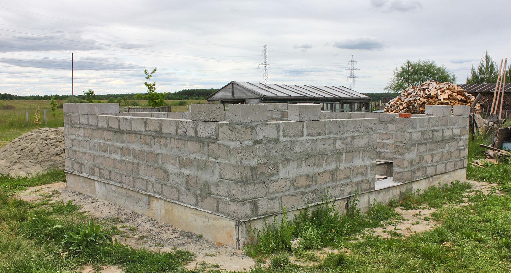 Строительство бани из керамзитобетонных блоков своими руками — пошаговая инструкция