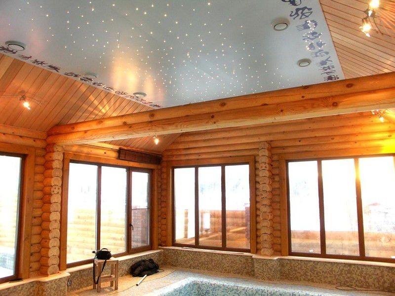 Схемы и устройство потолка в бане