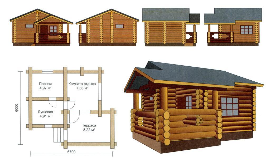 Баня с бассейном: проекты, строительство и оформление