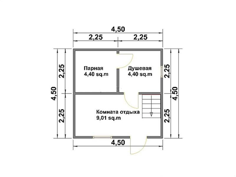 Баня размером 4х5 м: планировка интерьера