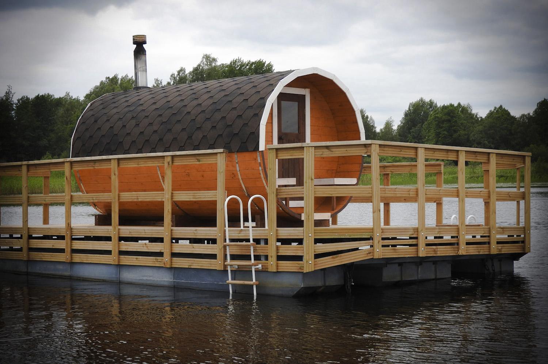 Баня на воде: строительство на понтоне, проект