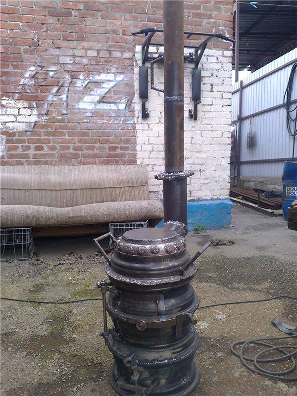 Печь для бани из дисков грузового автомобиля: пошаговая инструкция с фото