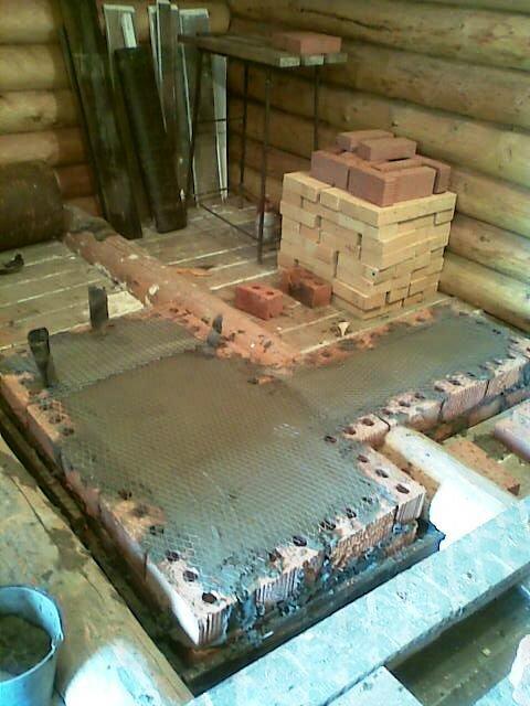 Установка печи в бане на деревянный пол - пошаговая инструкция!