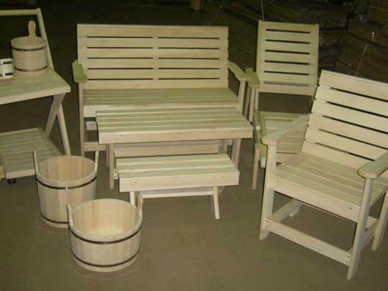 Мебель для бани имеет много вариантов, также ряд важных нюансов