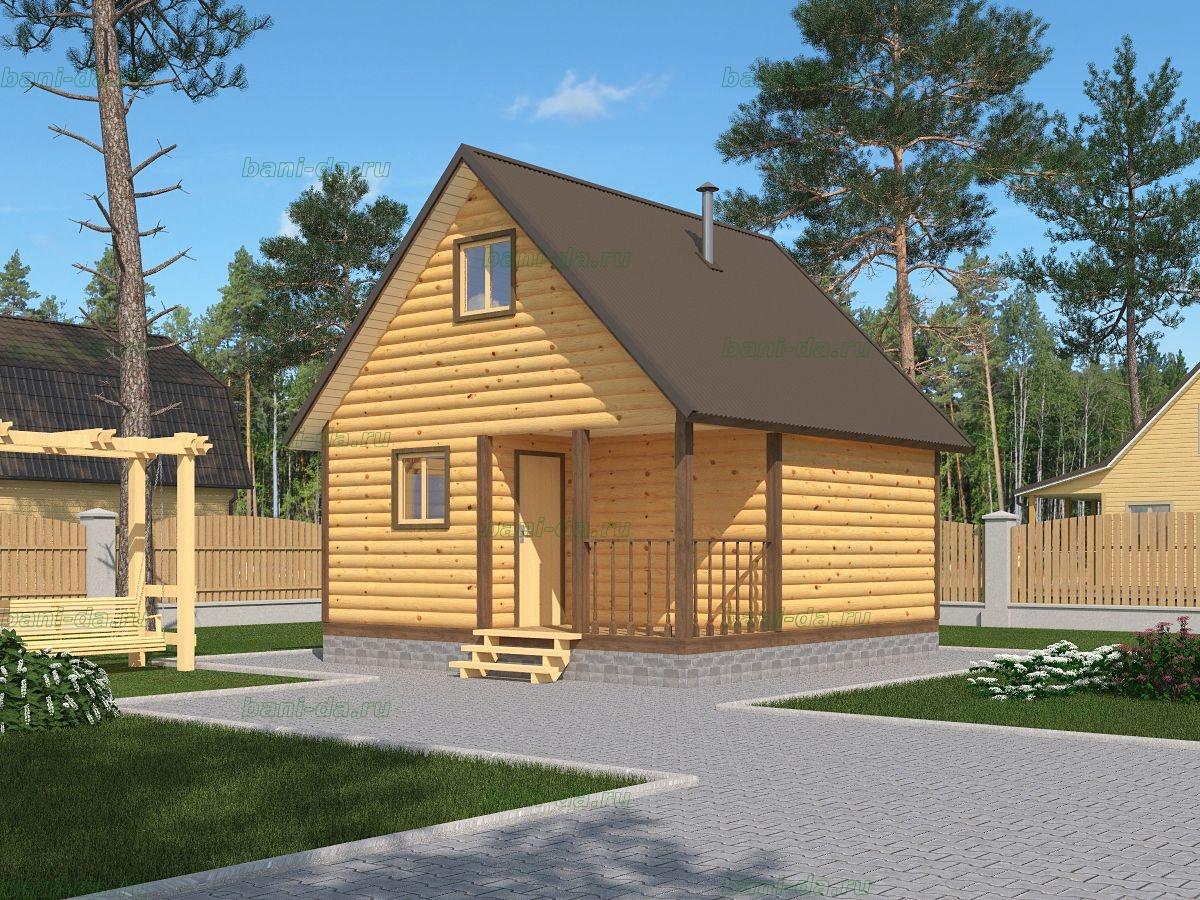 Дачный дом с баней под одной крышей – проекты строительства, их реализация и 37 фото готовых строений