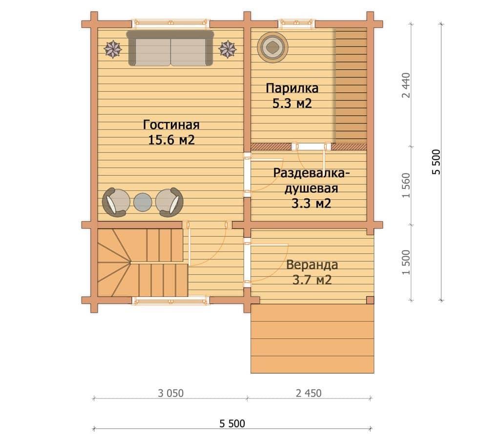Проекты двухэтажных бань: основные преимущества и этапы строительства | построить баню ру