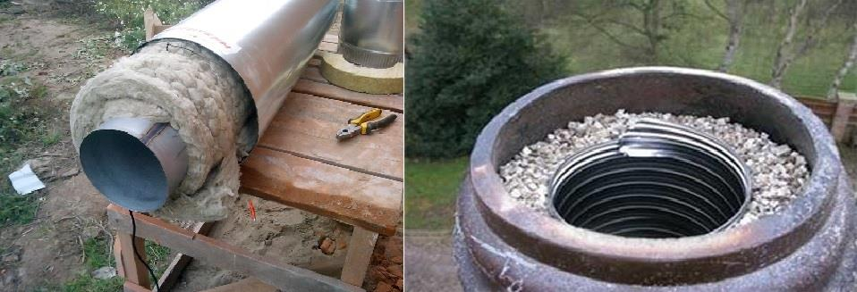 Использование асбестовой трубы в качестве дымохода