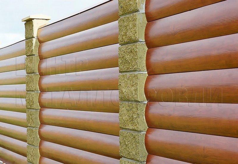 Металлический сайдинг под бревно: особенности материала
