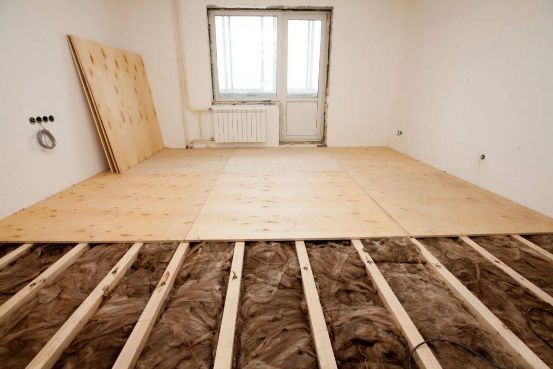 Укладка фанеры на бетонный пол: правила выравнивания. чем крепить и как постелить? монтаж без лаг и с ними