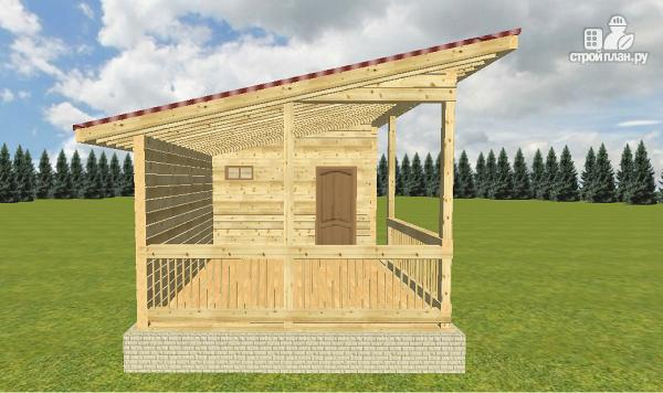 Особенности проектирования и строительства бани с односкатной крышей