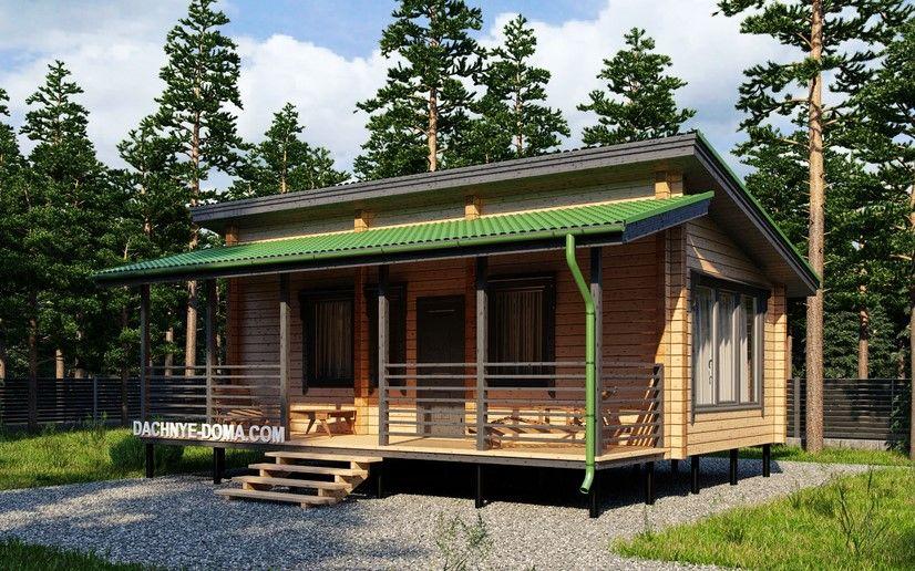 Строительство односкатной крыши для бани