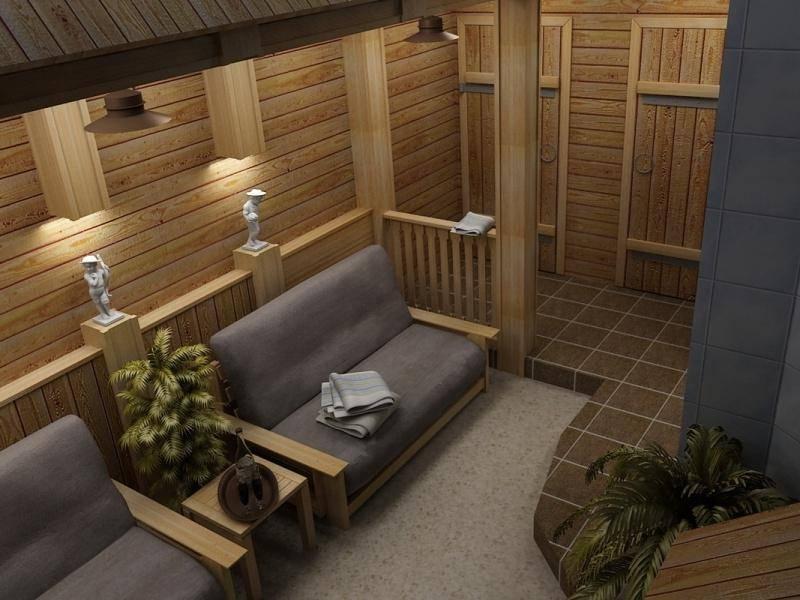 Изучаем интерьер бани и комнаты отдыха. Что лучше: классика или модерн?