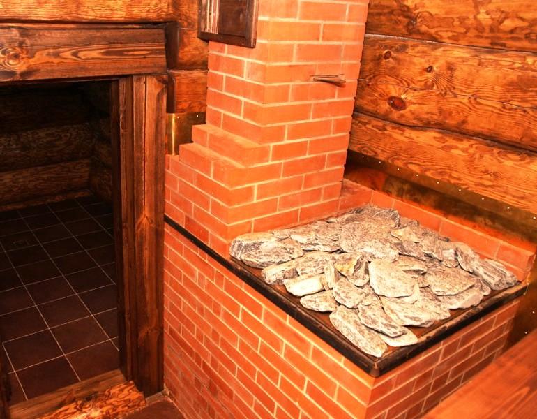 Кирпичная печь для бани с баком для воды своими руками