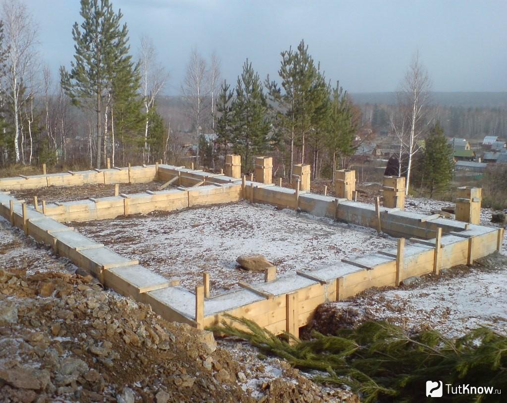 Возведение фундамента для бани: начало начал в строительном деле