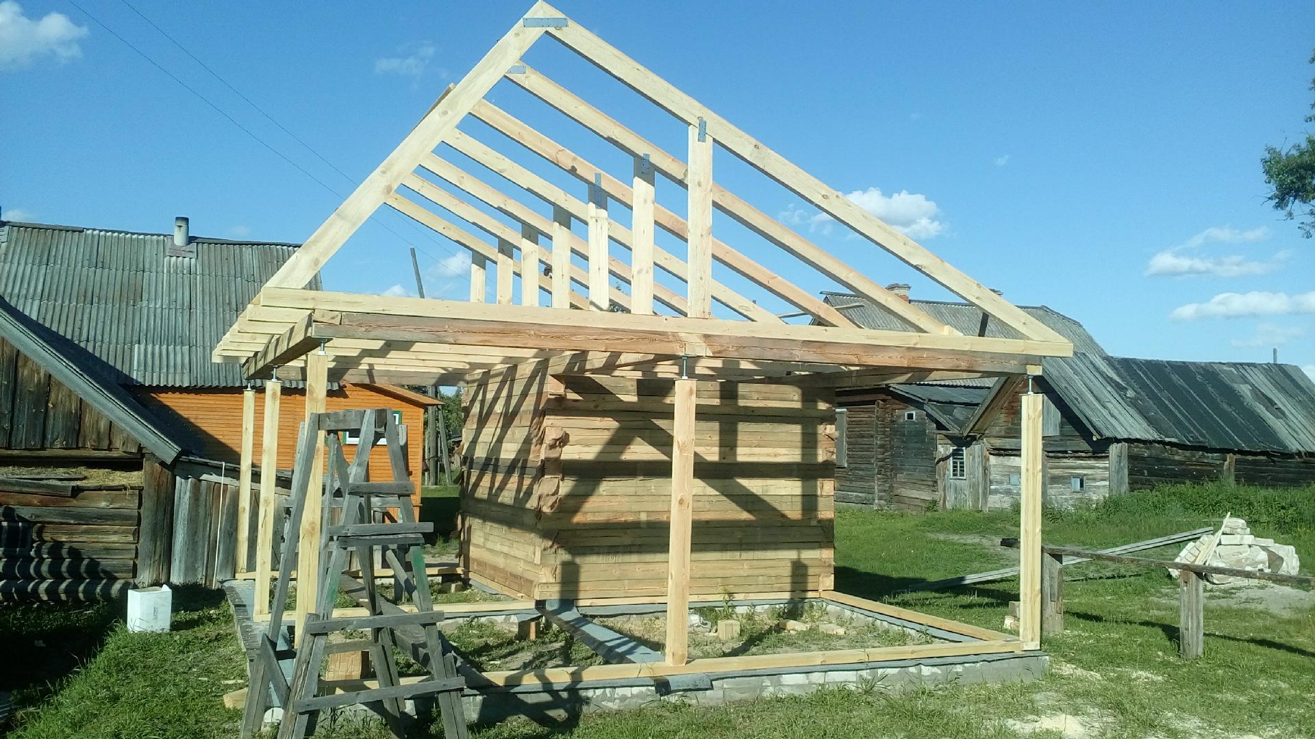 Крыша бани своими руками: монтаж, что лучше, как построить