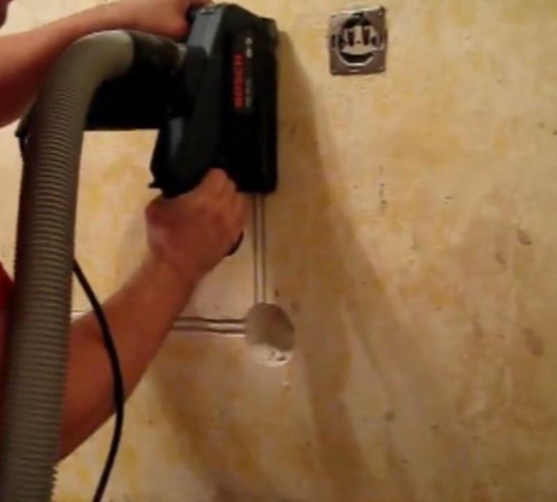 Четыре способа, как штробить стены под электрическую проводку