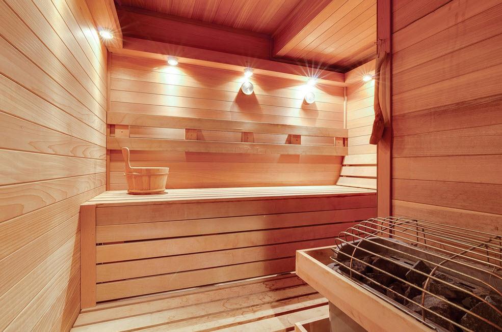 Отделка потолка,стен,пола парилки в бане своими руками
