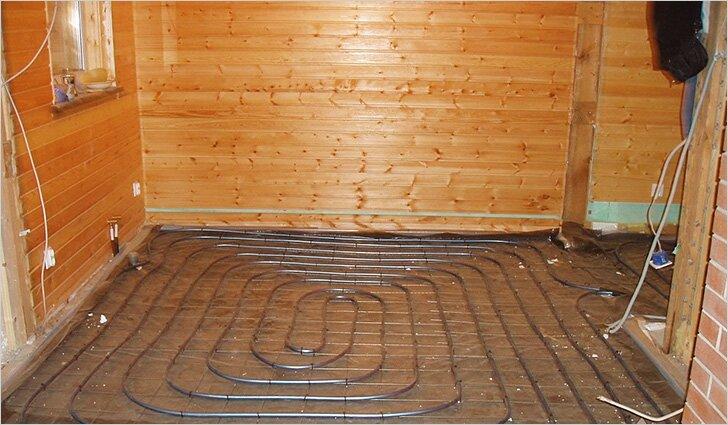 Теплый пол в бане от печки: своими руками, схема