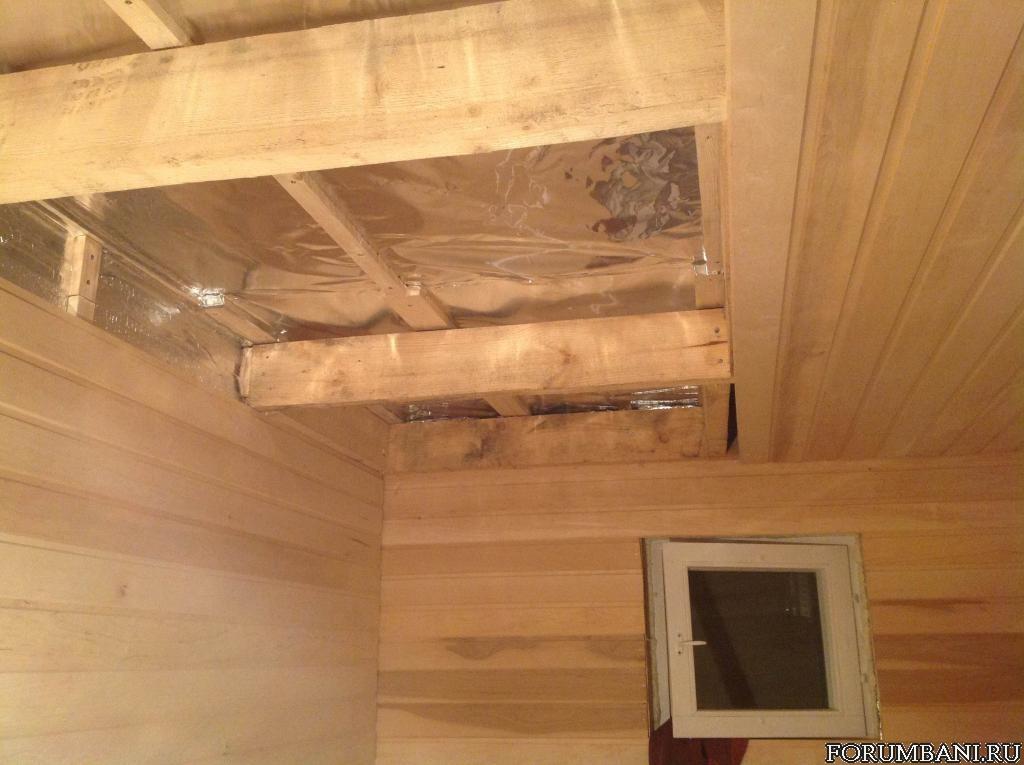 Потолок в бане своими руками – легко и быстро