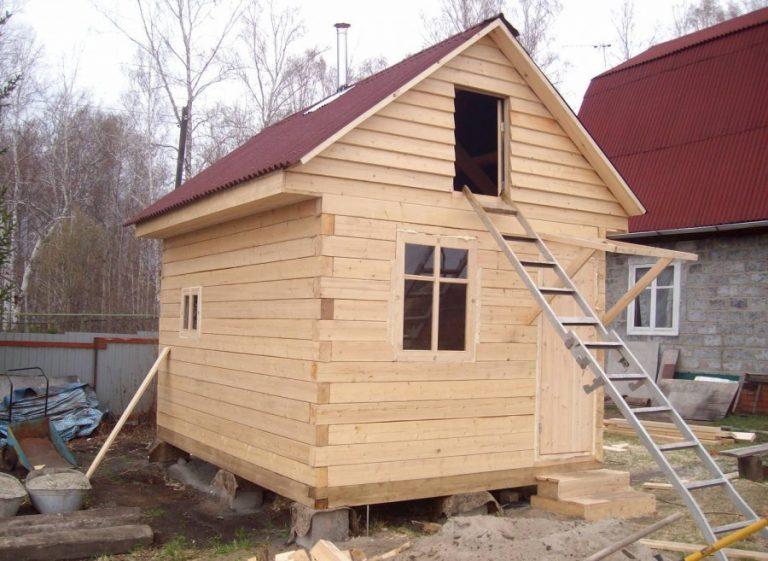 Как из бруса построить баню