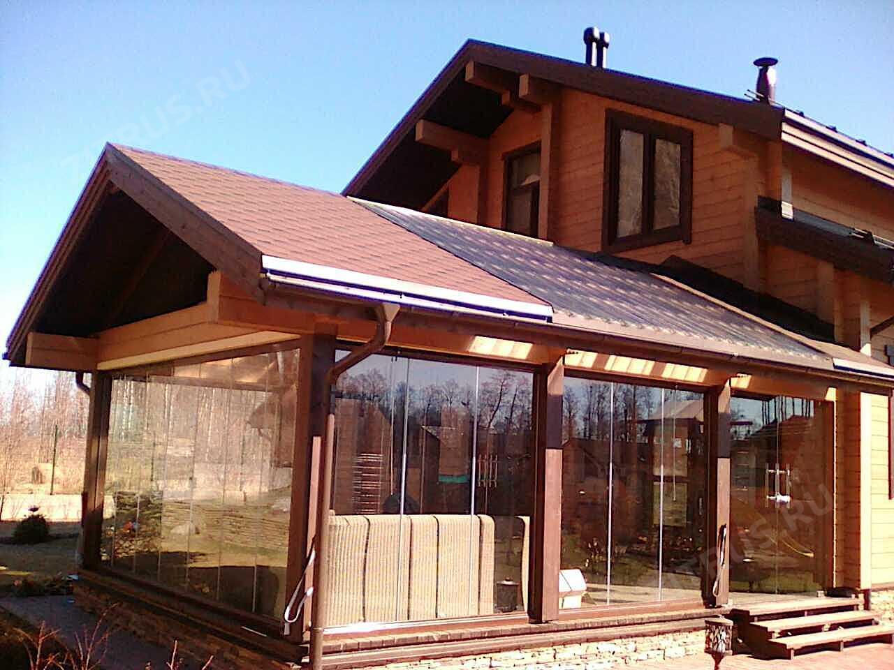 Проект бани с верандой под одной крышей — объясняем все нюансы