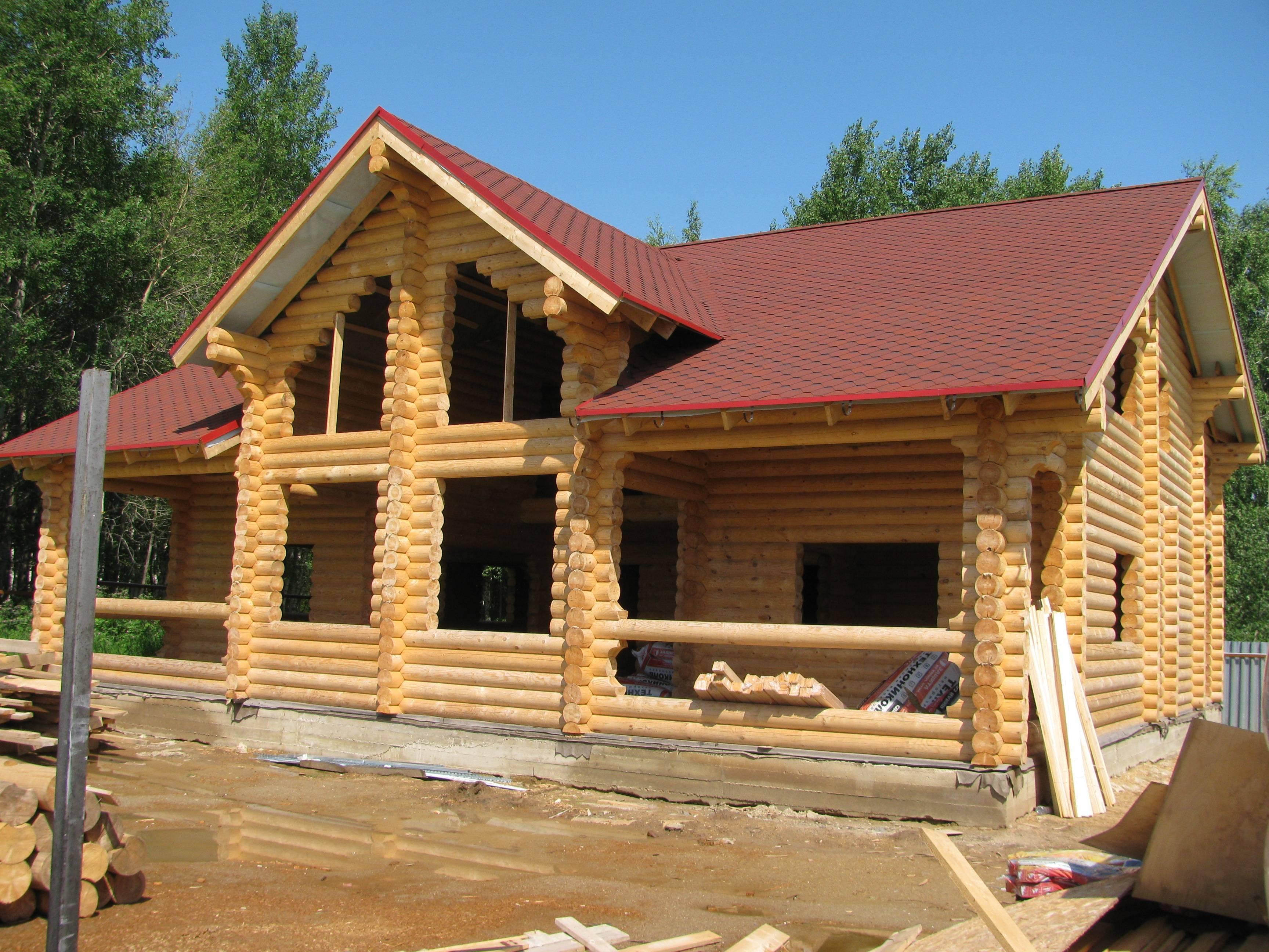 Строительство домов из оцилиндрованного бревна своими руками: этапы