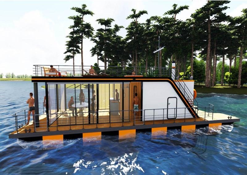 Баня на воде: особенности конструкции на понтоне и на плоту, технология возведения